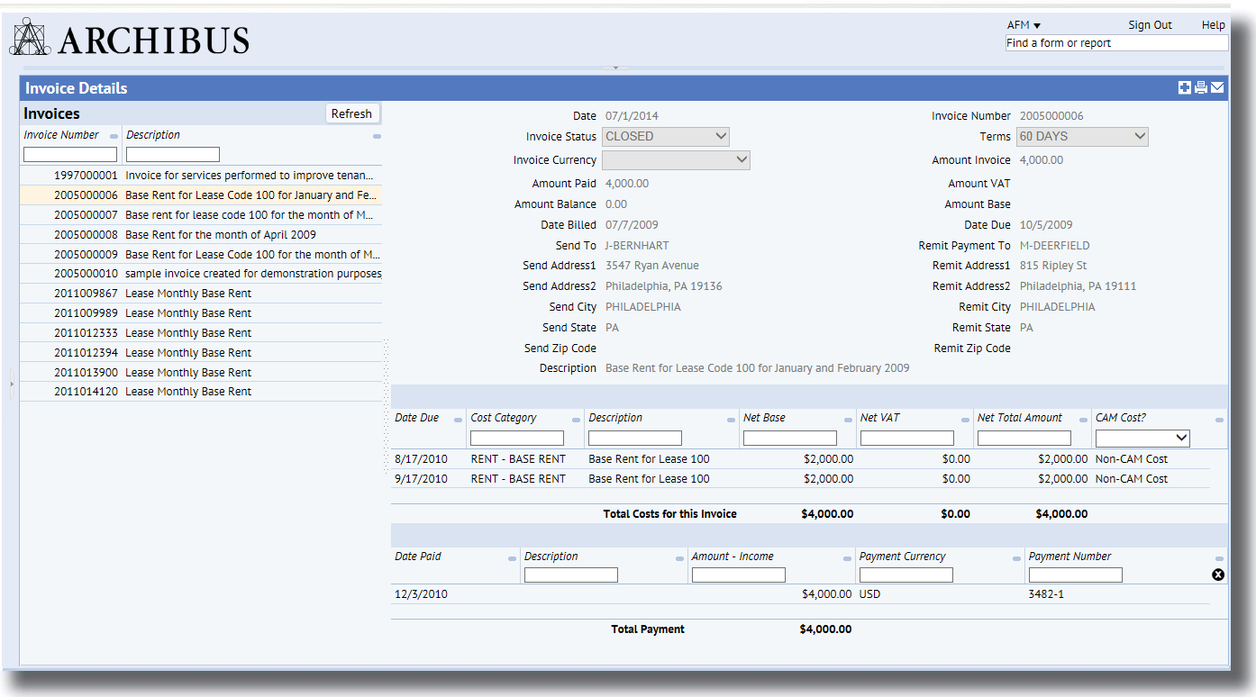 Cost Chargeback Invoicing